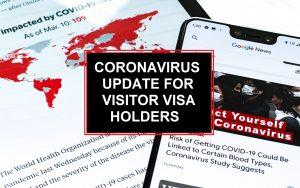 Coronavirus Updates for Visitor Visa Holders