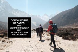 Coronavirus Updates for Working Holiday visa holders